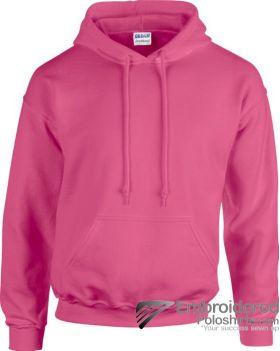 Gildan Gildan Adult Hooded Sweatshirt-pantone 1915C Safety Pink