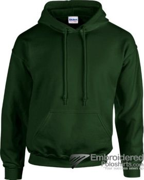 Gildan Heavy Blend  Adult Hooded Sweatshirt-pantone 5535C Forest Green