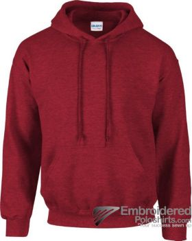 Gildan Heavy Blend  Adult Hooded Sweatshirt-pantone 7427C Antique Cherry Red