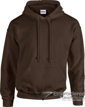 Gildan Heavy Blend  Adult Hooded Sweatshirt-pantone B5C Dark Chocolate