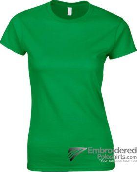 Gildan Ladies' Soft Style T-Shirt-pantone 340C Irish Green