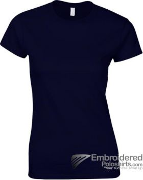 Gildan Ladies' Soft Style T-Shirt-pantone 533C Navy