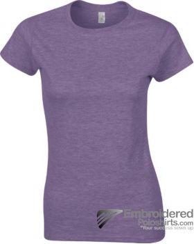 Gildan Ladies' Soft Style T-Shirt-pantone 668C Heather Purple
