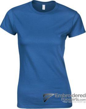 Gildan Ladies' Soft Style T-Shirt-pantone 7686C Royal