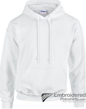 Gildan Heavy Blend  Adult Hooded Sweatshirt-pantone 000C White