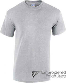 Gildan Heavy Cotton T-Shirt-pantone CG7C Sport Grey