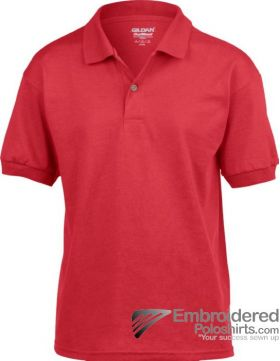 Gildan DryBlend Children's Jersey Polo-pantone 7620C Red