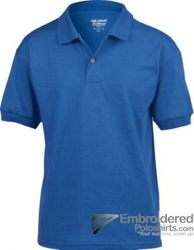 Gildan DryBlend Children's Jersey Polo-pantone 7686C Royal