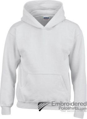 Gildan Gildan Childrens Hooded Sweatshirt-pantone 000C White