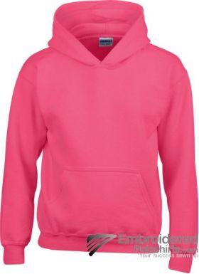 Gildan Gildan Childrens Hooded Sweatshirt-pantone 213C Heliconia