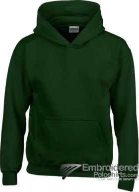 Gildan Gildan Childrens Hooded Sweatshirt-pantone 5535C Forest Green