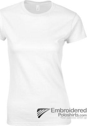 Gildan Ladies' Soft Style T-Shirt-pantone 000C White