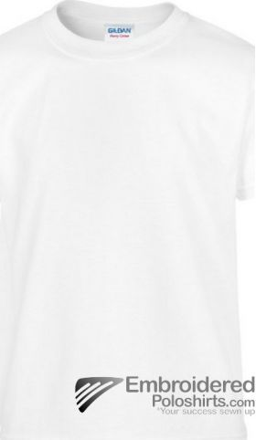 Gildan Children's Heavy Cotton T-Shirt-pantone 000C White