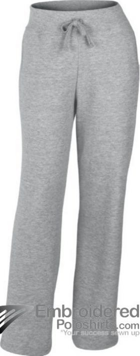 Gildan Ladies' Heavy Blend Open Bottom Sweatpant-pantone CG7C Sport Grey