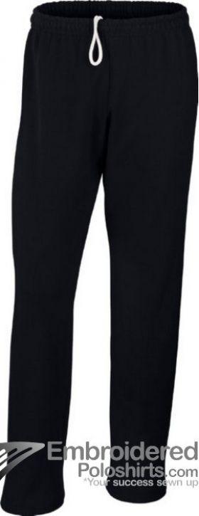 Gildan Men's Heavy Blend Open Bottom Sweatpant-pantone 426C Black