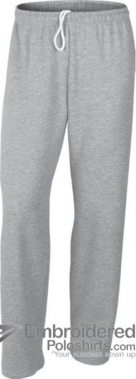 Gildan Men's Heavy Blend Open Bottom Sweatpant-pantone CG7C Sport Grey
